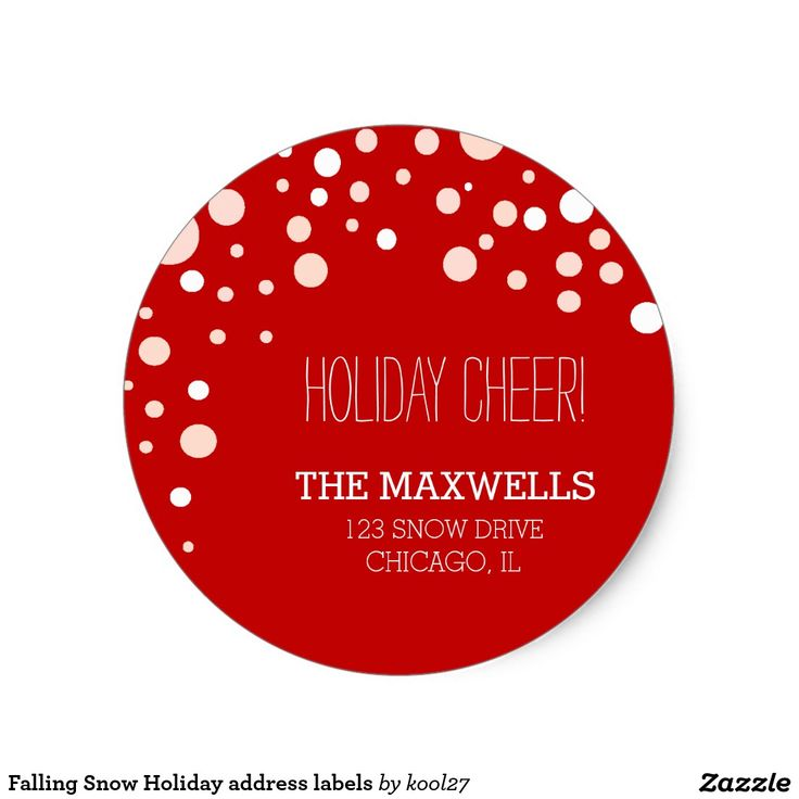 Shop falling snow holiday address labels created by personalize it with photos text or purchase as is