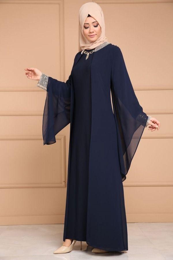 Sifon Yelek Gorunumlu Abiye Smt1251 Laci Muslim Fashion Dress Abayas Fashion Muslim Women Fashion