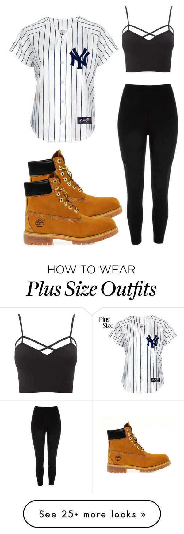 """Untitled #705"" by cali-dreams on Polyvore featuring River Island, Timberland, Charlotte Russe and plus size clothing"
