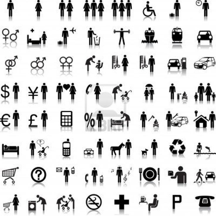 Sito Web e Internet icone - persone Archivio Fotografico
