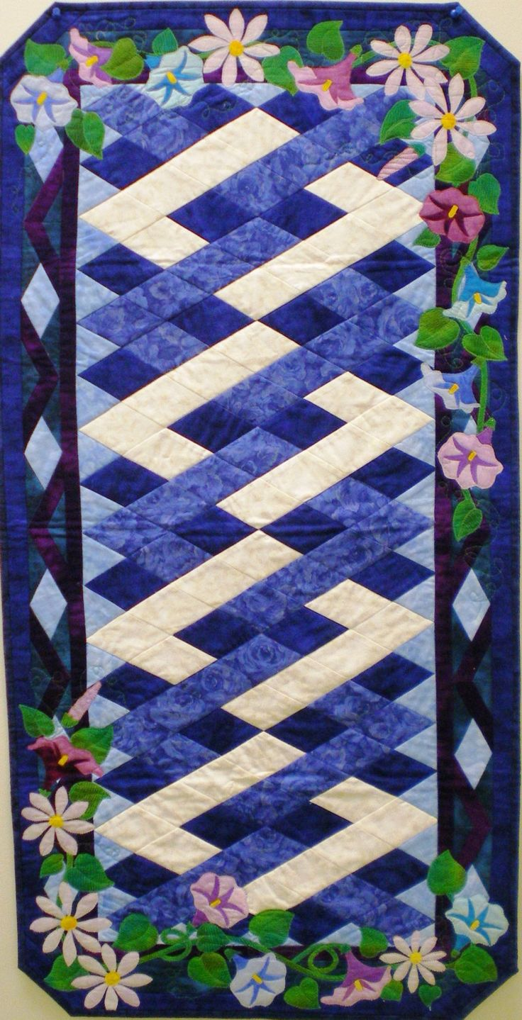 Morning Glory and Aster Table Runner Pattern. $12.00, via Etsy.