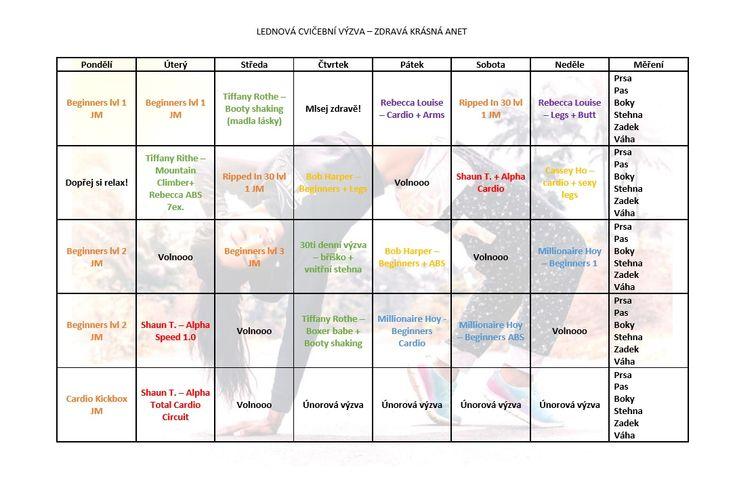 Zdravá a krásná...: Lednová cvičební výzva pro začátečníky