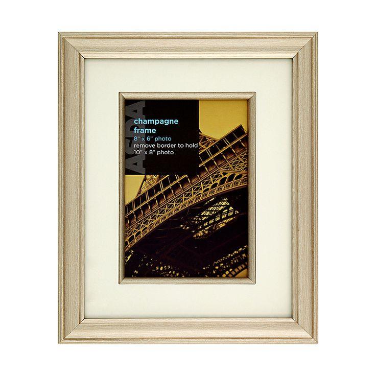 gold photo frame 10x8 inch photo frames asda direct. Black Bedroom Furniture Sets. Home Design Ideas