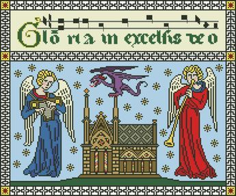 GLORIA in EXCELSIS DEO - original cross stitch design from Nancy Spies