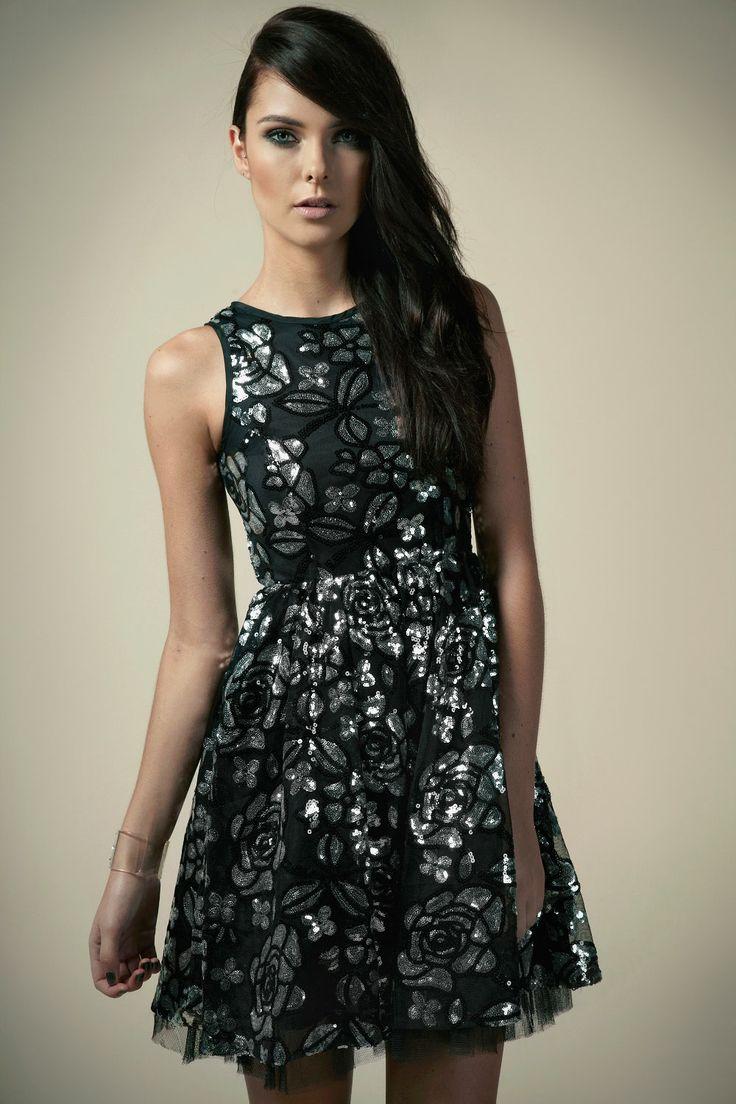 Chloe Rose Sequin Dress at boohoo.com