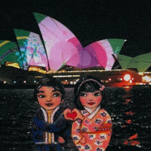 Mei+Kenji at Vivid Light Festival 1 Artprint