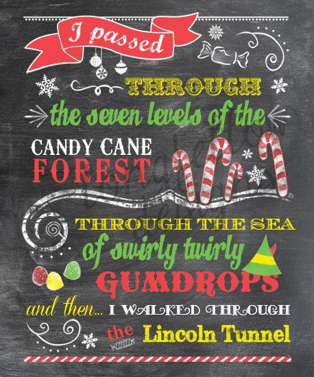Buddy The Elf  Candy Cane Forest  Colorful by Longfellowdesigns, $20.00