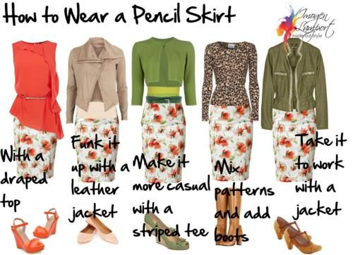 Cassie is our pencil skirt.  These are great suggestions on how to wear a pencil skirt!  Believe me, even if you didn't think you could wear one, you need to try a LuLaRoe skirt and you will become a believer!