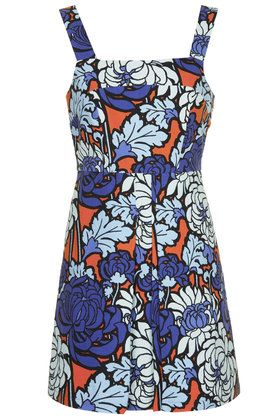 Paris Floral Print Pinny Dress