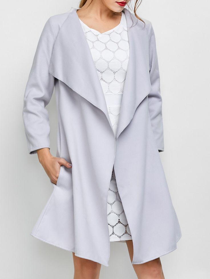 Long A Line Trench Coat With Pocket