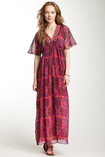 Antik Batik Silk Bora Maxi Dress by Non Specific on @HauteLook