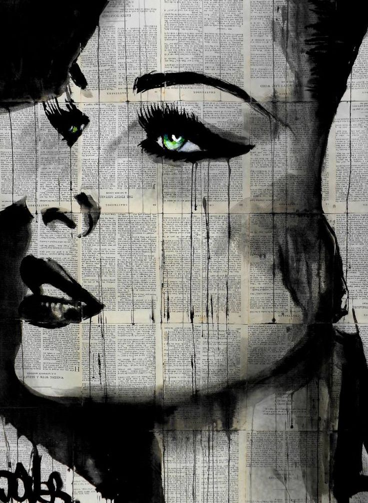 """Artist: Loui Jover; Ink 2014 Drawing """"fate and destiny....SOLD"""""""