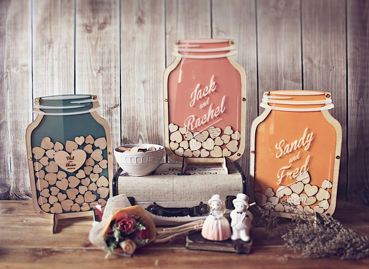 Mason Jar : Size 3 Wedding Guest Book alternative