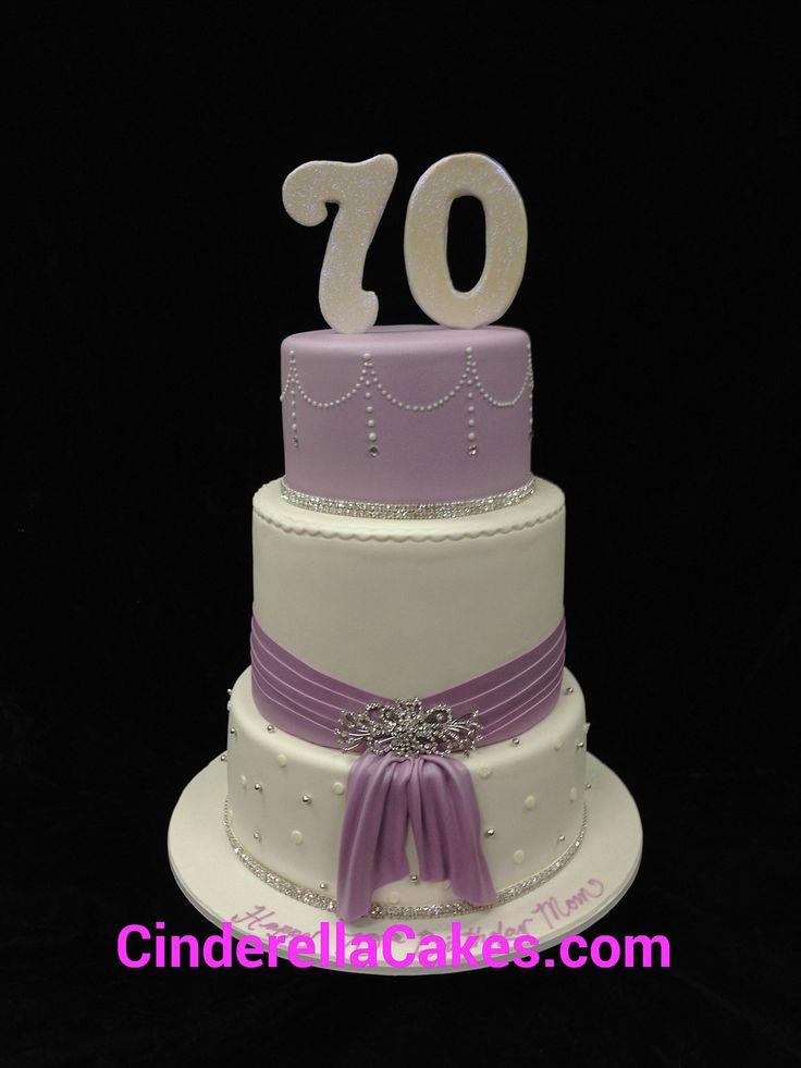 A beautiful 70th birthday cake Cakes Pinterest ...