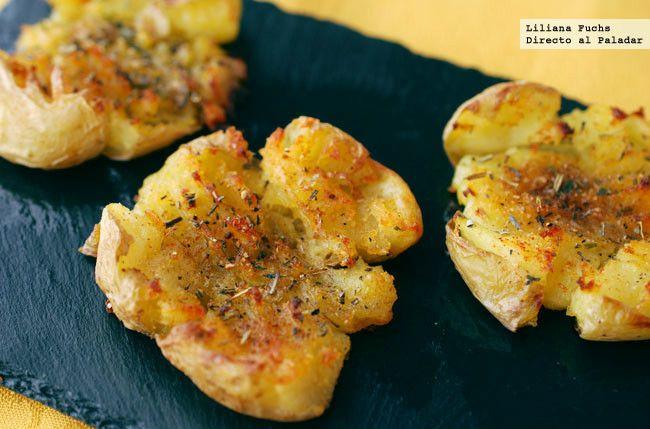 """Receta de patatas """"machadas"""". Con fotografías del paso a paso, consejos y sugerencias de degustación. Recetas de guarniciones. Recetas con patata..."""