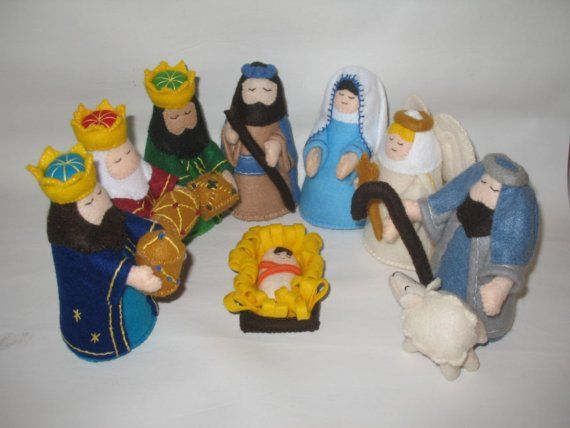 felt nativity set on etsy