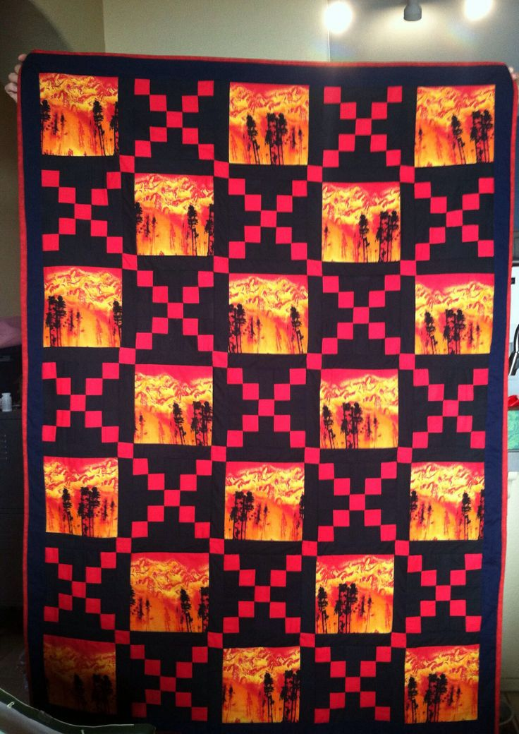Fireman S Irish Chain Quilted For My Dad S Birthday