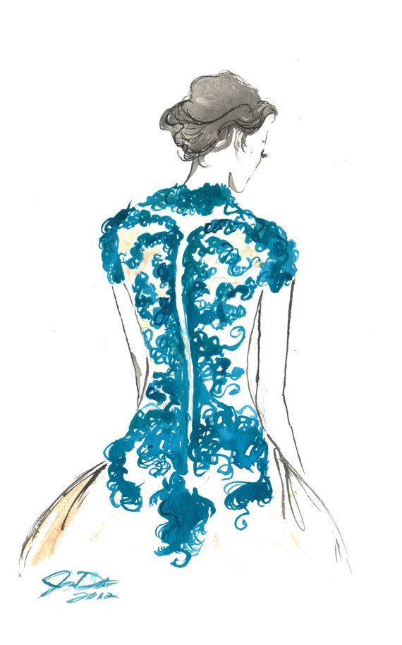 Watercolor Fashion Illustration - Backstage print