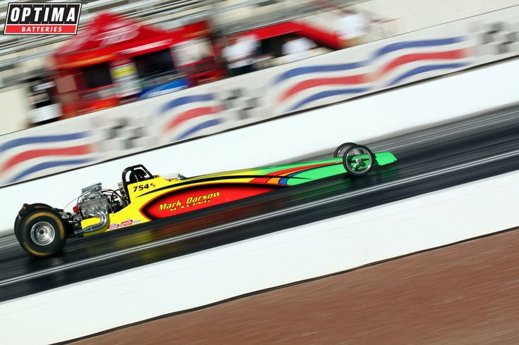 Sportsman drag racer mark darsow at speed at the strip at for Las vegas motor speedway drag strip