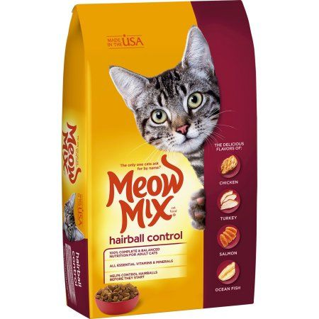 Meow Mix Hairball Control Dry Cat Food 3 15 Pound Walmart Com In 2020 Dry Cat Food Cat Food Best Cat Food