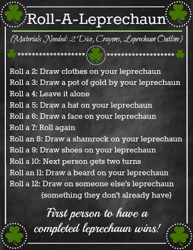 St. Patrick's Day 'Roll A Leprechaun' Game ~ so fun for kids! www.oneshetwoshe.com #kids #activities