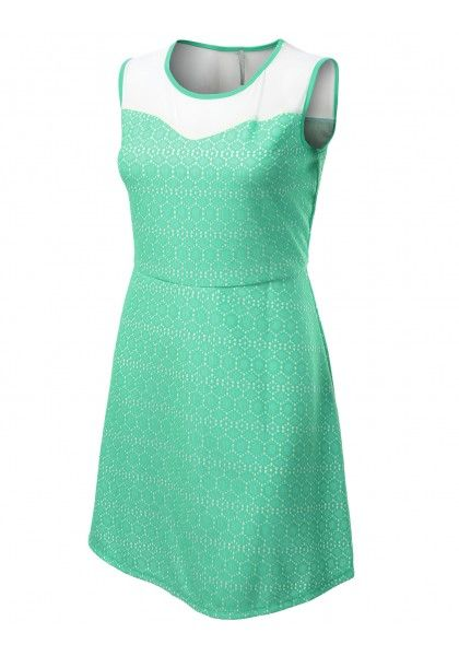 Sleeveless Mesh Sweetheart Lace Dress #jtomsonplussize