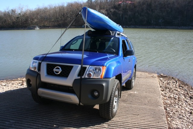 Jackson Kayaks Coosa on top a 2012 Nissan XTERRA PRO-4X http://www.bradwiegmann.com/tow-and-suv-vehicle-review/suv-reviews/755-kayak-outdoor-adventures-with-2012-nissan-xterra-pro-4x-.html photo by Brad Wiegmann Outdoors