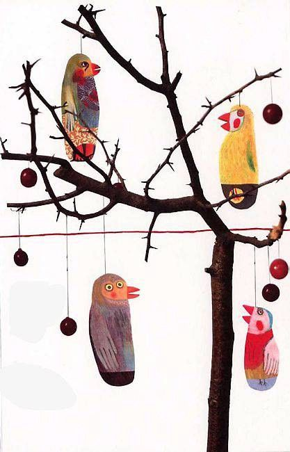 bird ornaments Anne Herbauts