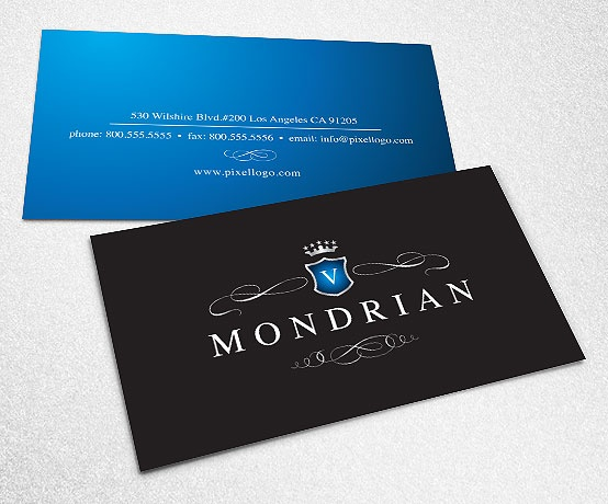 A Black and Blue Business Card Design. #businesscard #design  $39.99