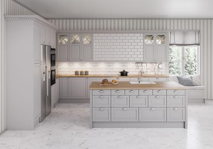 94 Design De Cuisine Blanche Et Grise Kitchen Decor Kitchen