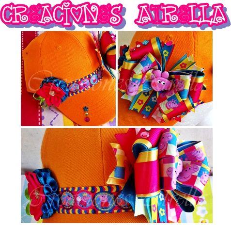 gorras decoradas con los personajes preferidos de nuestras princesas <3