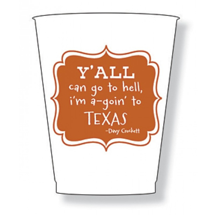 Texas Y'all Frost Flex Cups! Cute for a UT Tailgate!