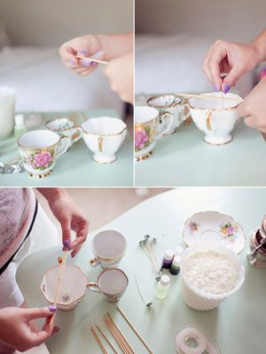 DIY Vintage Teacup Candles | Wedding Planning, Ideas & Etiquette | Bridal Guide Magazine