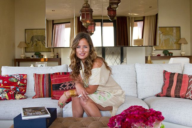 """Jade Jagger has recently completed her designs for the new Baglioni Hotel Marrakech...capping a """"long-love affair"""" with the city started on visits with her father"""
