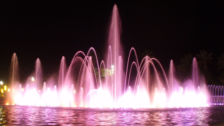 Magic fountain, Salou