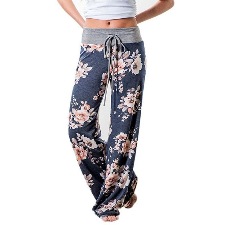 Cheap trousers long, Buy Quality wide leg pants directly from China flower  print pants Suppliers: Causal Women Autumn Flower Print Pants 2017  Drawstring ...