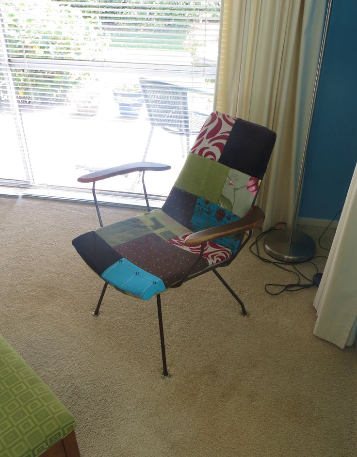 Re-covered 60's armchair at www.roseandsunday.co.nz
