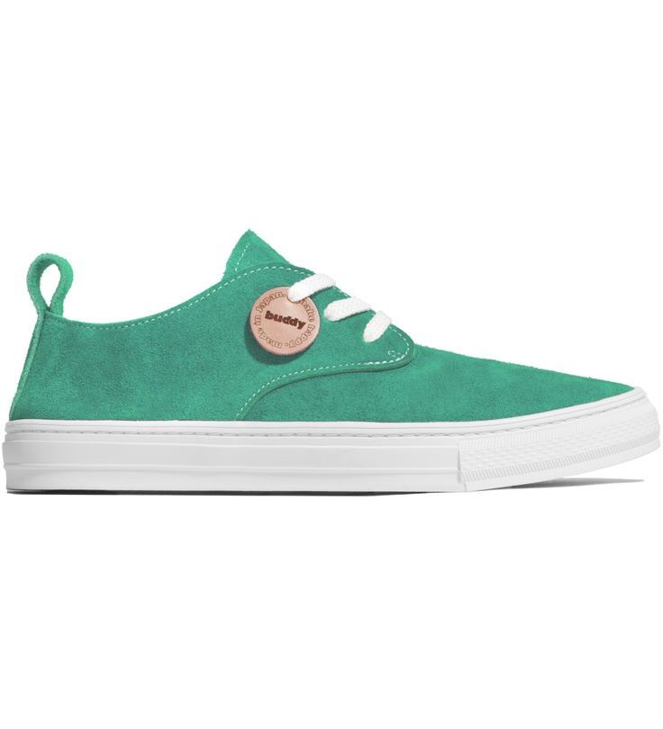 Buddy - Green Corgi Shoes $154. I'm a fool for brightly colored shoes from Japan.