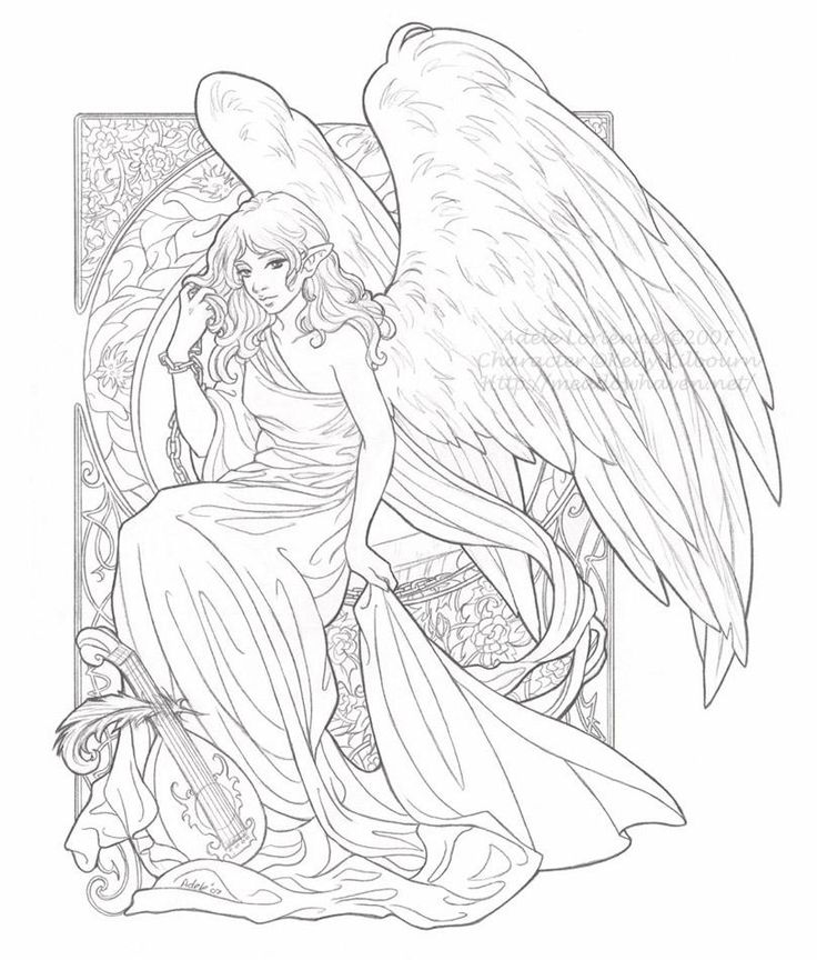 22 best fairy and angel coloring pages images on pinterest for Angel coloring pages print out
