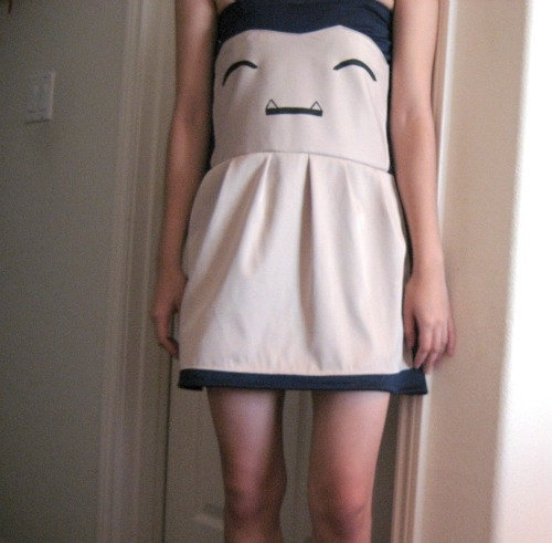 Snorlax Costume Strapless Dress. $90.00, via Etsy.