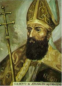 Saint Albert of Jerusalem. Priest and canon. Bishop of Bobbio, Bishop of Vercelli, and Patriarch of Jerusalem. Noted peacemaker in both warring Italy and the turbulent Holy Lands.