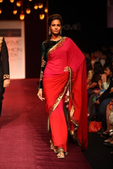 saree and blouse by Shyamal & Bhumika