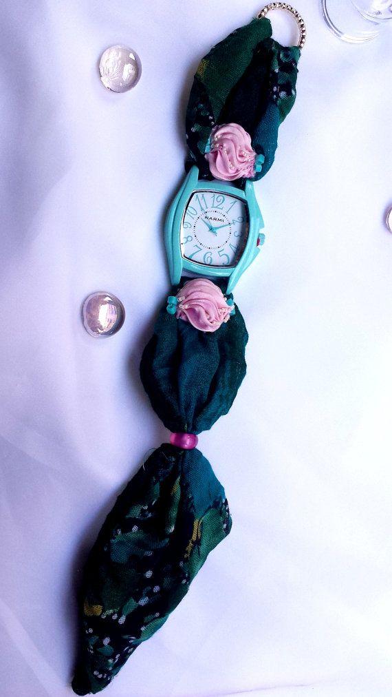 Wrap Watch Womens Handmade Christmas Gift by HARMONYHOURWATCHES
