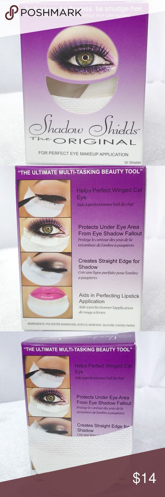🆕Shadow Shields 30 Pk🆕 New in box Shadow Shields 30 Pack  Shadow Shields eliminate the mess involved in creating various eye looks. The moon-shaped, disposable self-adhesives gently stick under your eyes to catch falling pigment and glitter, eliminating that all too familiar raccoon eye side effect experienced during eyeshadow application. Major time savers, these lightweight shields are a convenient alternative to the usual powder-under-the-eye trick. Also perfect for winged eyeliner and…