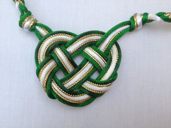 Celtic heart handfasting cord. I had another one from this shop pinned on my page, but it didn't have the metallic cord.  I like the addition of the shiny cord.