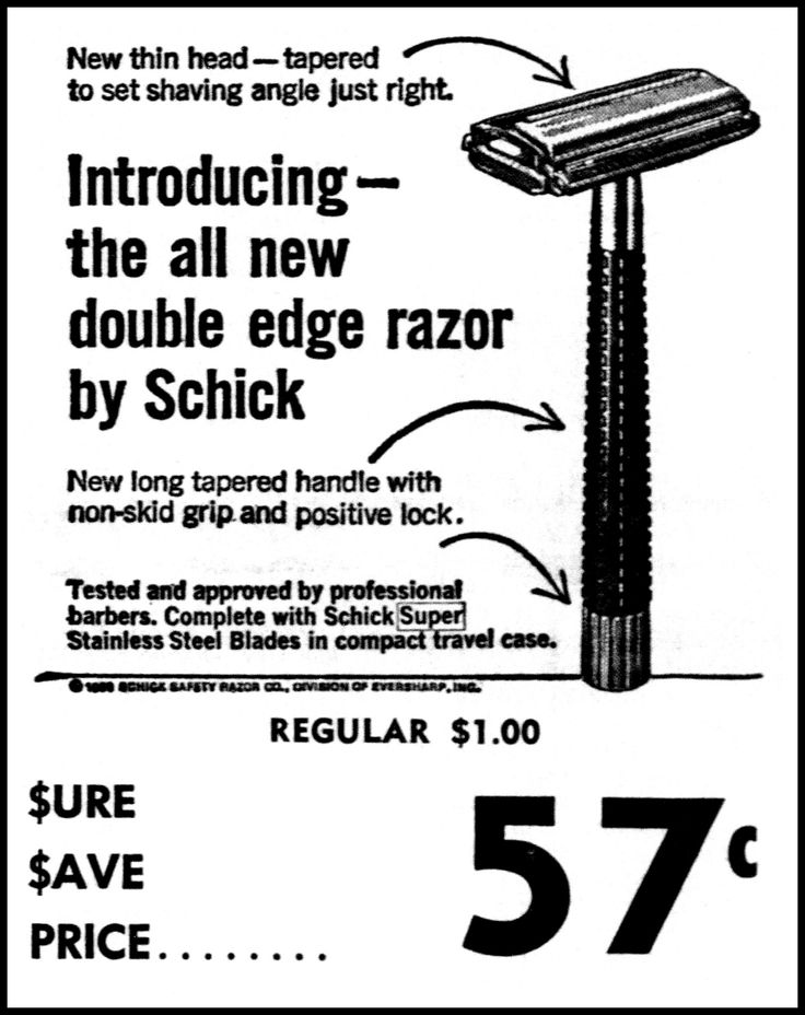 https://flic.kr/p/22DmF4b | Advertising For The Schick Double Edge Safety Razor In The Jackson Tennessee Sun Newspaper, February 11, 1968