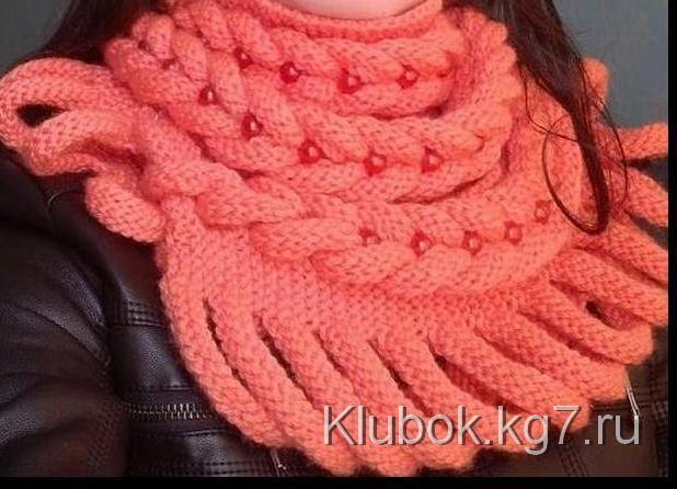 Всем известные плетёные шарфы и шапочки с Осинки   Клубок