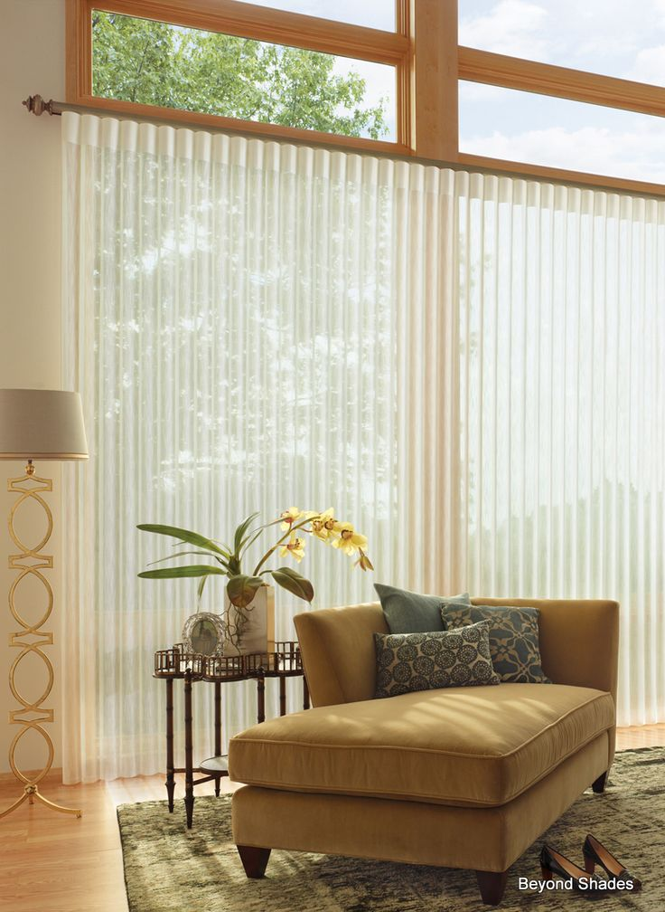 luminettes are a great alternative to vertical blinds for sliding glass doors and large windows