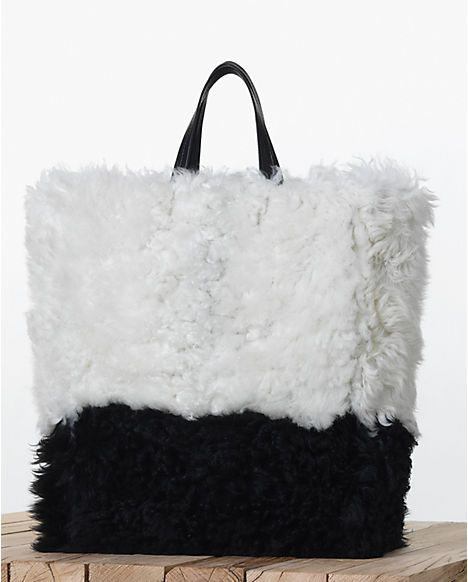 Cabas in Shearling