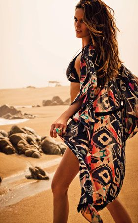 Printed Kaftan #SS14SWIM #VivaLaFiesta #figleavesSummer Fashion, Beach Kaftan, Beach Wear, Hippie Swimwear, Coverup, Holy Water, 2013 Swimwear, Tribal Prints, Covers Up